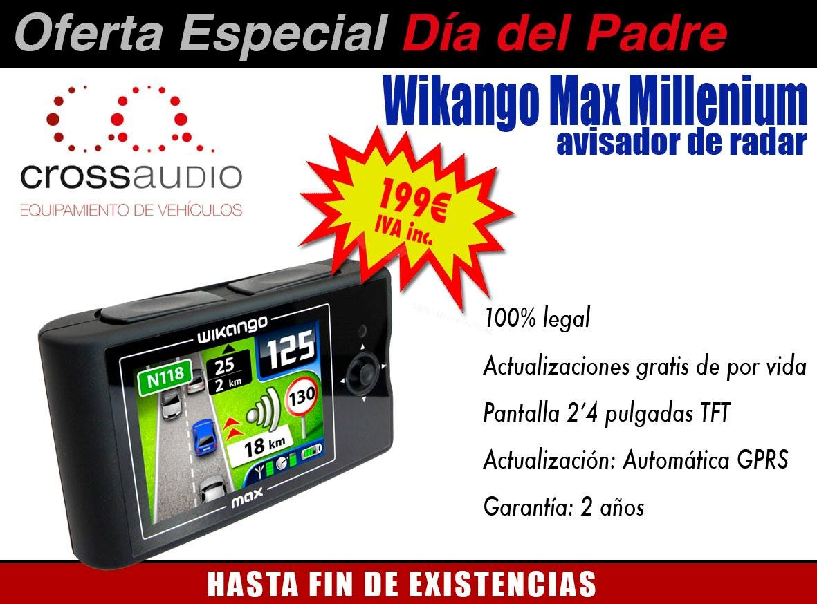ofertas especiales d a del padre crossaudio equipamiento para veh culos. Black Bedroom Furniture Sets. Home Design Ideas